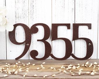 Metal House Number Sign | Custom Metal Sign | House Numbers | Address Numbers | Outdoor Address | Custom Address | 4 Digit