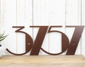 Custom Modern Outdoor Metal House Numbers - Copper, Art Deco, Modern House Numbers, Outdoor House Number Plaque