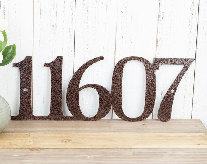 Metal House Number   Custom Metal Sign   House Numbers Sign   Address Sign   Address Plaque   Custom Sign   Outdoor Sign   5 Digit Only