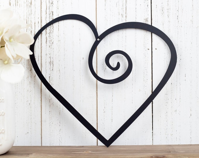 Heart Metal Wall Art | Valentines | Metal Sign | Metal Wall Decor | Wall Hanging | Love | Wall Decor | Wall Art | Sign | Heart | Steel Sign