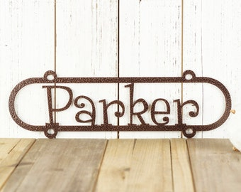 Custom Metal Name Sign, Personalized Name Plaque, Outdoor Metal Wall Art