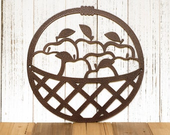 Apple Kitchen Decor | Metal Wall Art | Kitchen Signs | Rustic Home Decor | Mothers Day Gift | Farmhouse | Laser Cut Sign | Matte Black shown