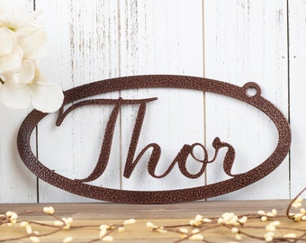 Custom Name Sign   Metal Name Sign   Personalized Sign   Metal Wall Art   Name Plaque   Custom Sign   Metal Wall Decor