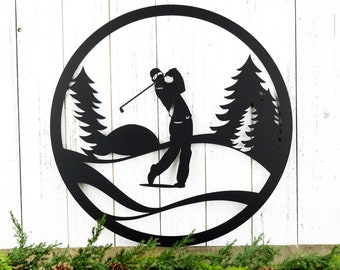 Golfer Metal Wall Decor   Gift For Him   Golf Gift   Golfer Gift   Wall Hanging   Outdoor   Sign   Wall Art   Fathers Day Gift