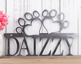Custom Dog Metal Sign | Dog Memorial | Name Sign | Custom Sign | Metal Wall Art | Personalized Sign | Outdoor Sign | Custom Metal Sign