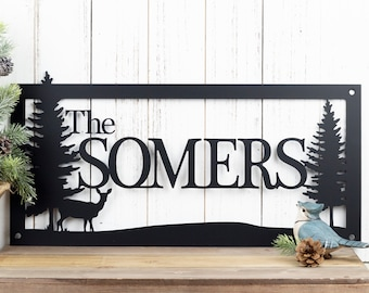 Rustic Family Name Metal Sign | Family Name Sign | Metal Sign | Metal Wall Art | Rustic Decor | Farmhouse | Personalized Sign