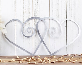 Hearts Metal Wall Art | Wedding Gift | Wedding Decor | Metal Sign | Love | Wall Hanging | Outdoor Wall Art | Gift | Decor | Heart Sign