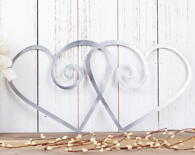 Hearts Metal Wall Art | Wedding Gift | Wedding Decor | Metal Sign | Love | Wall Hanging | Outdoor Wall Art | Gift | Decor | Heart Sign