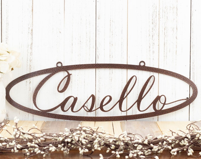 Custom Metal Sign | Name Sign | Last Name Sign | Custom Name Sign | Metal Wall Art | Outdoor Sign | House Sign | Family Name