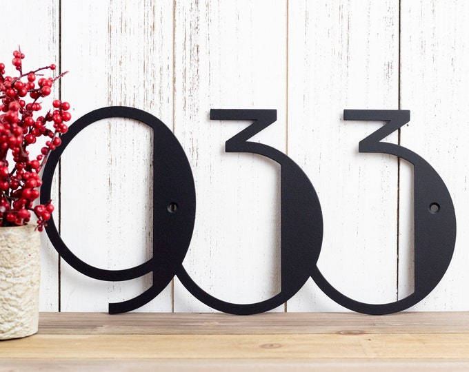 Modern House Numbers Sign | Metal House Number | Custom Metal Sign | Address Sign | Contemporary | Art Deco | Address Plaque