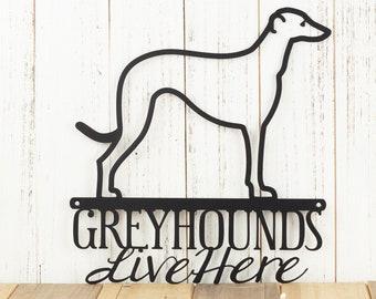 Greyhound Metal Wall Art | Hound | Dog Sign | Metal Sign | Wall Hanging | Wall Decor | Outdoor Sign | Pet Lover Gift | Wall Art | Sign