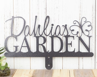 Name Sign | Custom Garden Sign | First Name | Gift For Her | Metal | Custom Gift | Personalized Gift | Sign | Gift | Butterfly