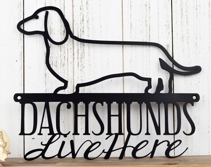 Dachshund Metal Wall Art | Doxie | Wiener Dog | Metal Sign | Outdoor Sign | Weiner Dog | Pet | Metal Wall Decor | Dog Sign | Wall Hanging