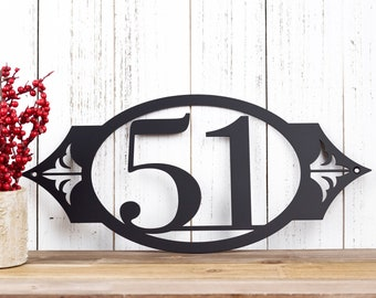 Outdoor House Number Metal Sign | Address Sign | Address Plaque | House Numbers | Address Numbers | Custom Sign | 2 Digit Only