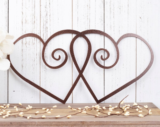 Hearts Metal Wall Art | Wedding Decor | Wedding Sign | Wedding Gift | Valentines | Valentine's | Love Wall Art | Heart | Sign