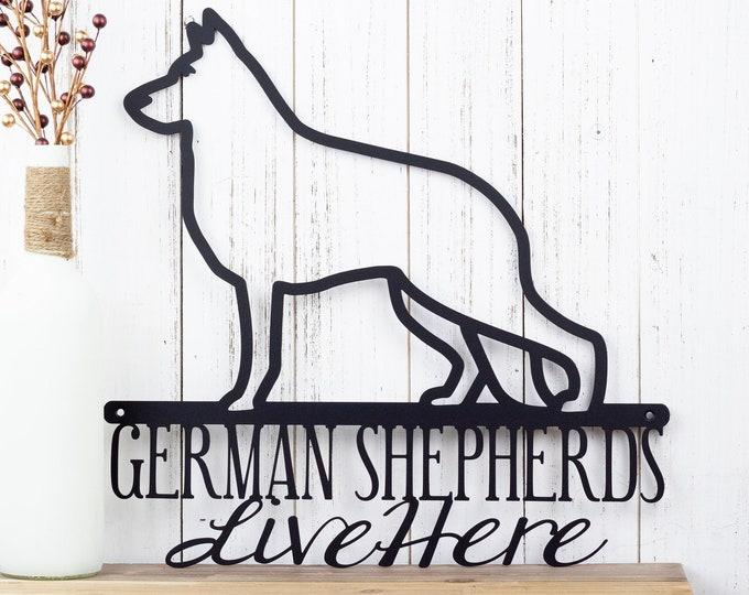 German Shepherd Metal Wall Art | Metal Sign | Dog Sign | Dog Lover Gift | Metal Wall Decor | Outdoor Sign | Sign | Wall Decor | Metal Art