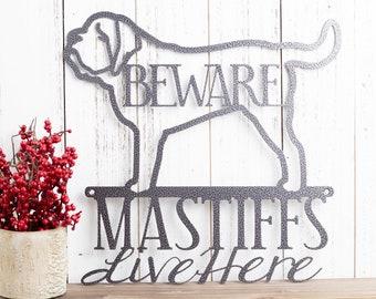 English Mastiff Metal Wall Art | Metal Sign | Mastiff | Metal Wall Decor | Sign | Dog Sign | Wall Hanging | Pet Sign