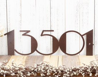 Modern House Number Metal Sign | Art Deco | Art Deco Numbers | Address Sign | Address Plaque | Modern Decor | Metal Wall Art