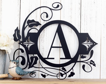 Monogram Metal Wall Art | Custom Sign | Monogrammed Sign | Personalized | Wedding Gift | Custom Monogram | Metal Wall Art