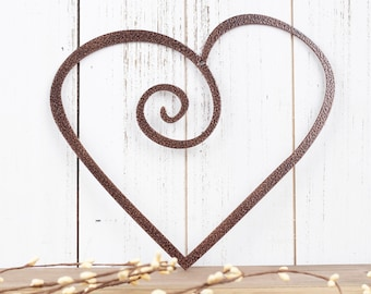 Heart Metal Wall Art | Heart Sign | Metal Sign | Wall Hanging | Outdoor Sign | Heart | Metal Wall Decor | Sign | Plaque