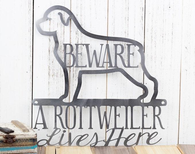 Rottweiler Metal Wall Art | Metal Sign | Dog Sign | Wall Hanging | Rottweilers | Outdoor Sign | Metal Wall Decor | Sign