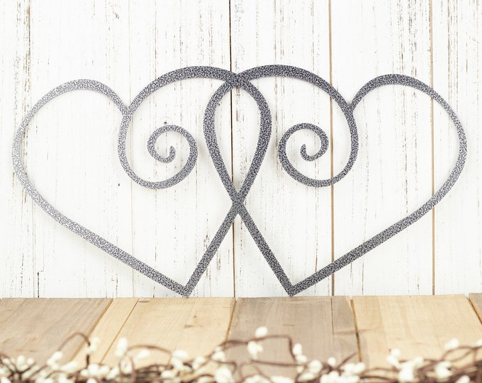 Heart Metal Wall Art, Metal Sign, Valentines, Hearts, Metal Art, Wall Decor, Wall Hanging, Love, Valentines Day Decor, Wall Art, Metal, Sign