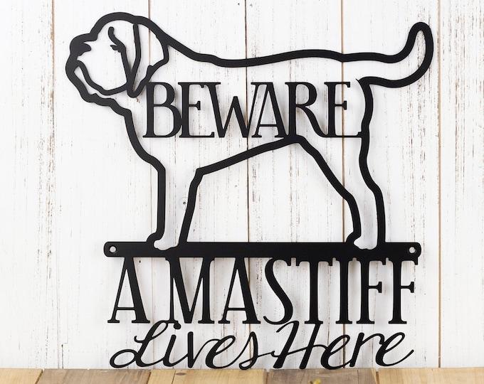 English Mastiff Metal Sign | Mastiff | Metal Wall Art | Mastiff Sign | Metal Wall Decor | Outdoor Sign | Wall Hanging | Dog