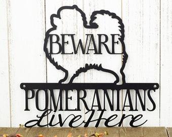 Pomeranian Outdoor Metal Wall Art