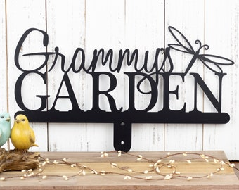 Custom Metal Garden Name Sign | Custom Garden Sign | Gift For Her | Garden Sign | Metal Sign | Name Sign | Personalized Sign