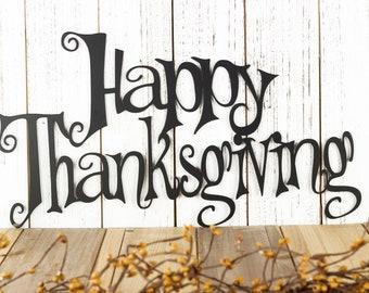 Happy Thanksgiving Metal Wall Art | Fall Decor
