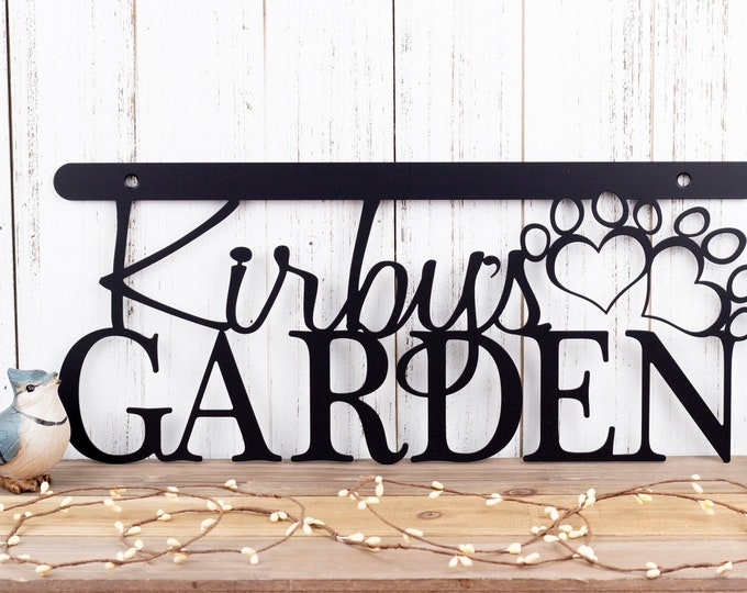 "Pet Memorial Sign | Garden Sign | Metal Sign | Metal Wall Art | Garden Decor | Sign | Personalized Sign | 18""W x 8""H 