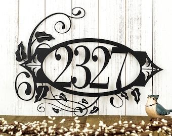 House Number Metal Sign | Address Sign | Address Plaque | Outdoor Sign | Custom Sign | House Numbers | Custom Metal Sign | Personalized Sign