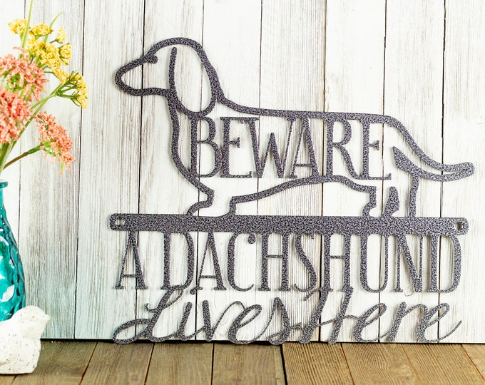 Dachshund Dog Metal Wall Art