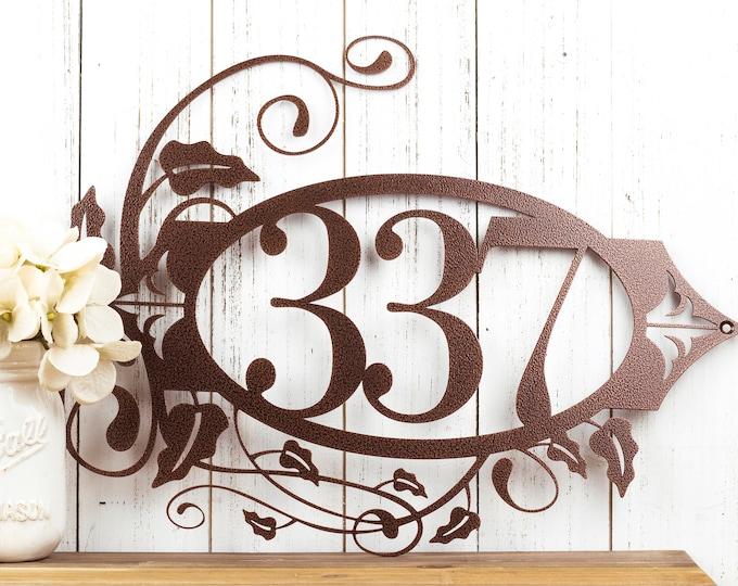 Metal House Number Sign   Outdoor Sign   Address Sign   Address Numbers   Custom Metal Sign   Custom House Number   3 Digit Only