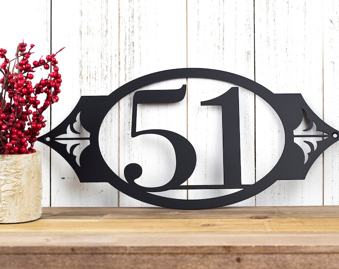 Outdoor House Number Metal Sign   Address Sign   Address Plaque   House Numbers   Address Numbers   Custom Sign   2 Digit Only