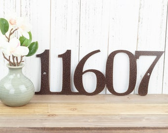Metal House Number | Custom Metal Sign | House Numbers Sign | Address Sign | Address Plaque | Custom Sign | Outdoor Sign | 5 Digit Only