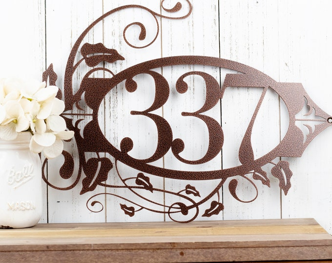 Metal House Number Sign | Outdoor Sign | Address Sign | Address Numbers | Custom Metal Sign | Custom House Number | 3 Digit Only
