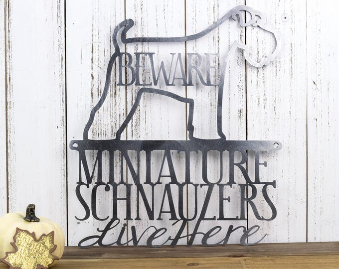 Miniature Schnauzer Metal Wall Art | Metal Sign | Schnauzer | Metal Wall Decor | Wall Hanging | Dog Sign | Gift | Sign