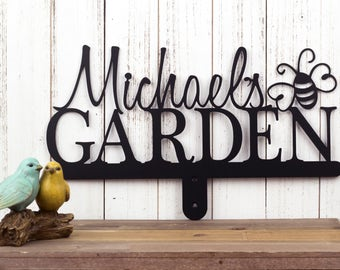 Custom Name Sign | Metal Garden Sign | Garden Sign | Metal Sign | Personalized Gift | Sign | Custom Garden Sign | Bumble Bee