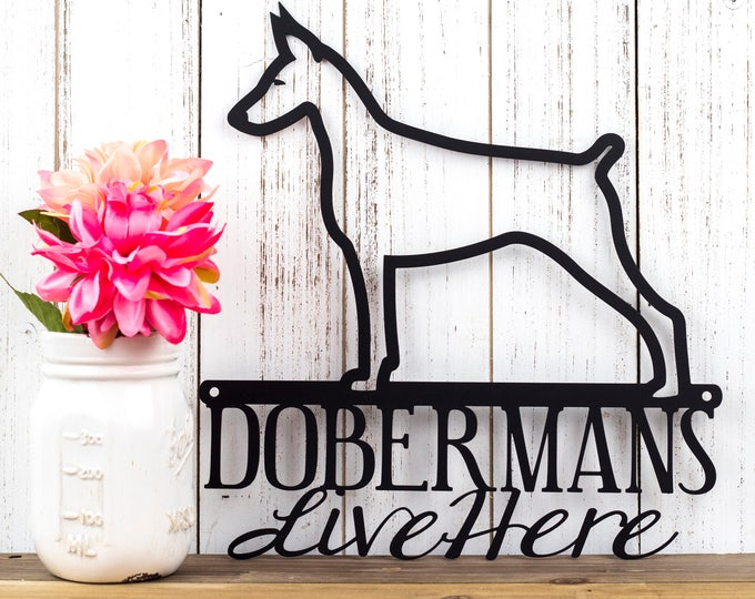 Doberman Metal Wall Art | Doberman Pinscher | Metal Sign | Dog Sign | Outdoor Sign | Doberman Sign | Pinscher | Wall Hanging | Wall Art