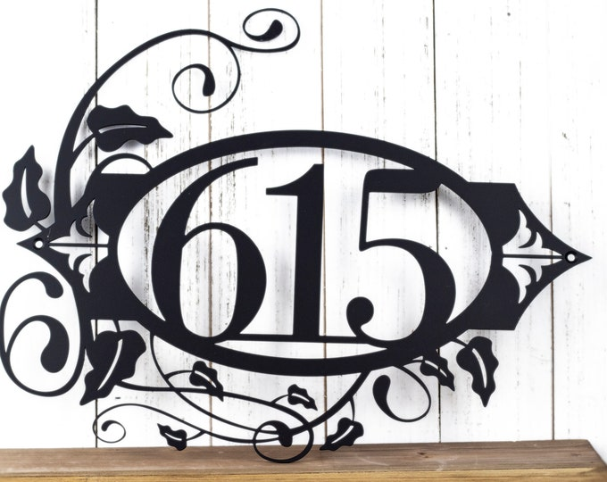 """Metal Address Plaque 