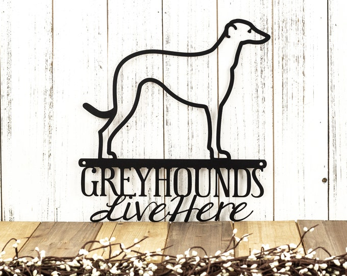 Greyhound Metal Wall Art | Hound | Dog Sign | Metal Sign | Wall Hanging | Wall Decor | Outdoor Sign | Pet Lover Gift | Wall Art | Sign