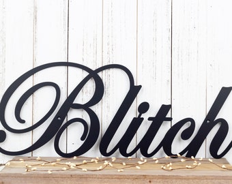 Family Name Metal Sign | Family Last Name Sign | Metal Wall Art | Metal Wall Decor | Metal Wall Hanging | Outdoor Sign | Name