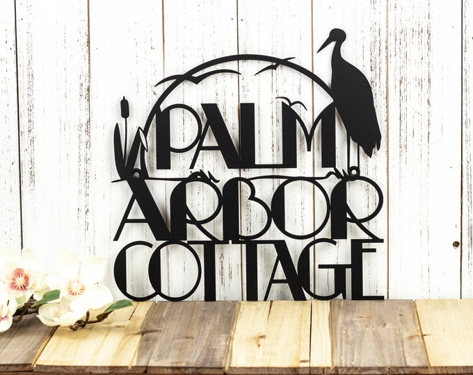 Custom Outdoor Address Metal Sign - Black, 12x12, Custom Sign, Metal Sign, Address Plaque, Metal Wall Art, Outdoor Sign