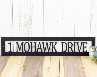 Custom Metal Address Plaque