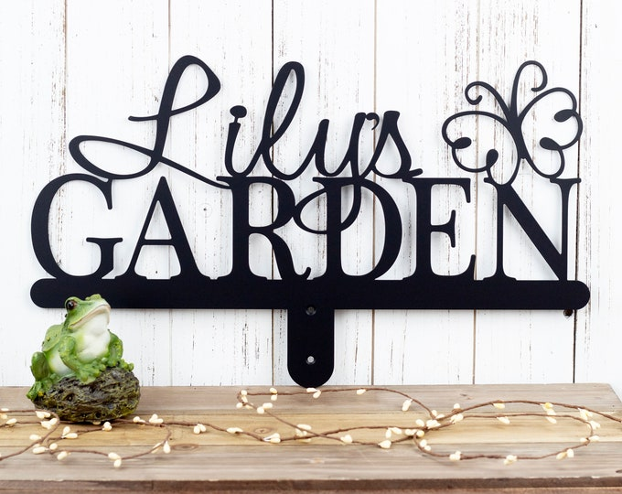 Garden Name Sign | Gift For Her | Name Sign | Metal Sign | Outdoor Sign | Personalized Gift | Metal Garden Sign | Butterfly