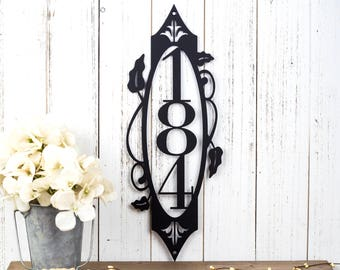 Vertical House Number Sign | Metal Sign | Custom Metal Sign | Address Sign | Address Plaque | House Numbers | Outdoor Sign