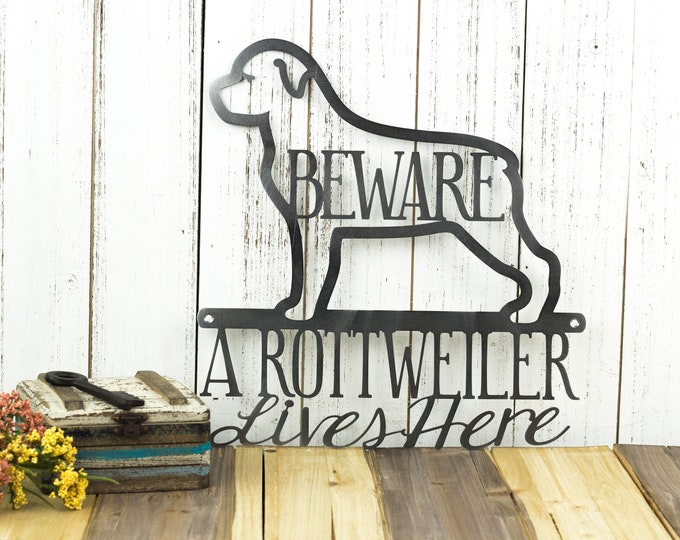 Rottweiler Metal Wall Art | Metal Sign | Dog Sign | Wall Hanging | Rottweilers | Outdoor Sign | Metal Wall Decor | Sign
