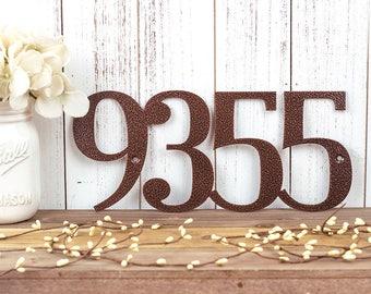 Metal House Number Sign   Custom Metal Sign   House Numbers   Address Numbers   Outdoor Address   Custom Address   4 Digit