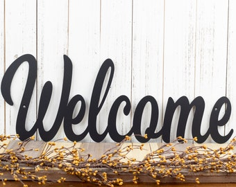"""Metal Welcome Sign 